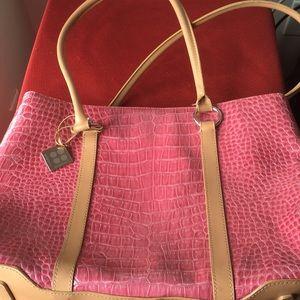 BCBG girls pink shoulder bag- crocodile pattern